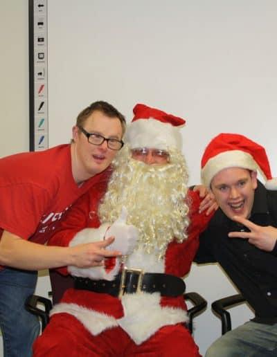 Christmas time fun with Santa
